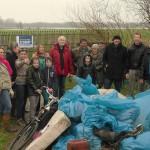 12 maart 2016: Schoonmaakactie Woelse Waard Gorinchem